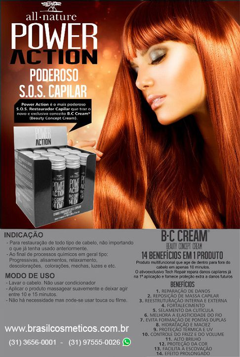 Power Action Sos All Nature - B C Cream Beauty - 2 Caixas