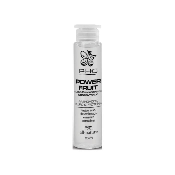 Power Fruit Fluido Concentrado Top Fruit   All Nature Aminoácidos Puros Restauração Instantânea 15ml