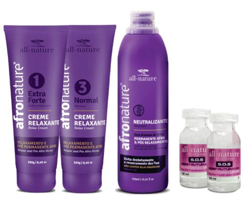 All Nature Kit Relaxamento Capilar Profissional
