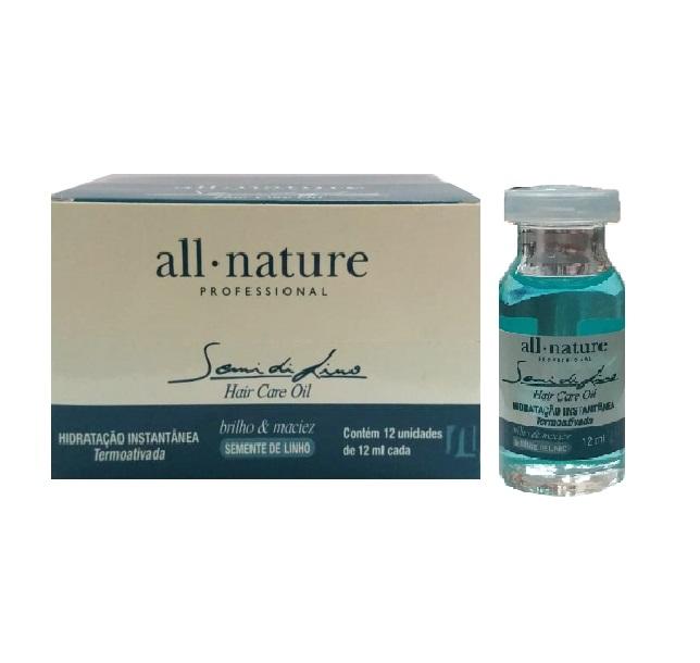 Semi Di Lino  Hair Care Oil  All Nature Hidratação Instantânea Alto Brilho Maciez e Sedosidade