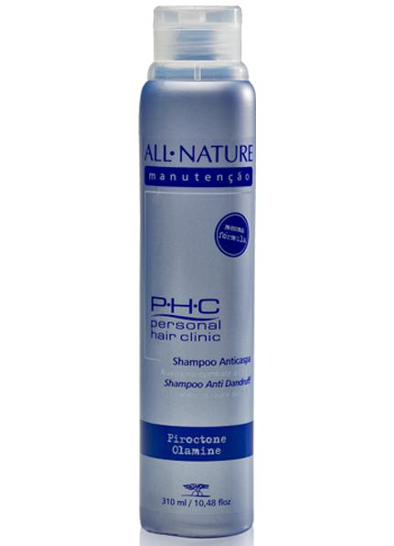 Shampoo Anti Caspa 310ml All Nature Fórmula Suave Que Não Resseca o Cabelo