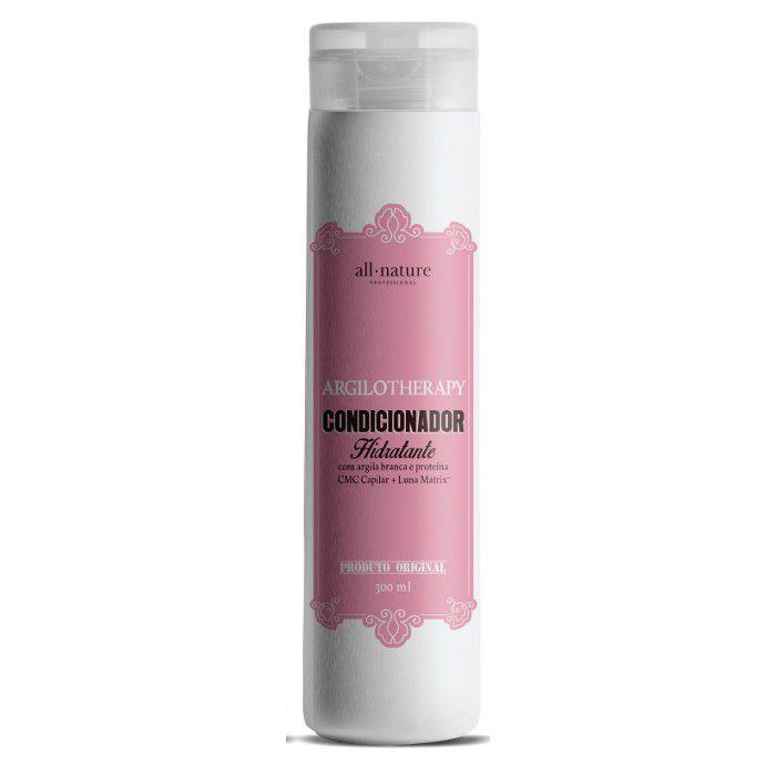 Kit All Nature Shampoo Hidratante Argilotherapy e Condicionador 300ml - 3 Unds.