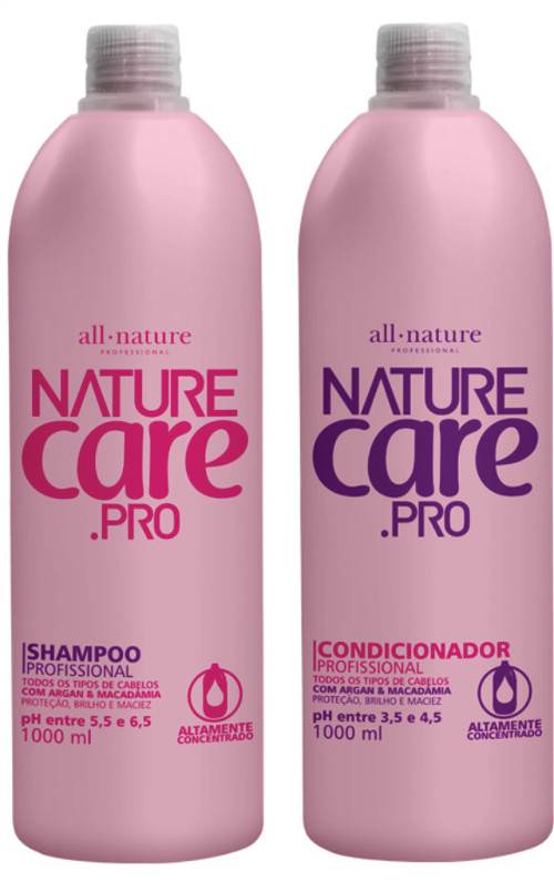 Shampoo + Condicionador 1000ml Nature Care   All Nature