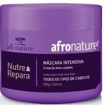 Shampoo de Jaborandi 300ml + Máscara Intensiva 500g Afro Nature e Hidrat 22 Leave In Creme Para Pentear - All Nature
