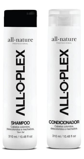 Shampoo e Condicionador Alloplex Para Cabelos Descoloridos Com Mechas, Loiros e Tintos + Alloplex Crosslink Passo 2 Hidratação Pós Coloração, Descoloração e Manutenção Semanal