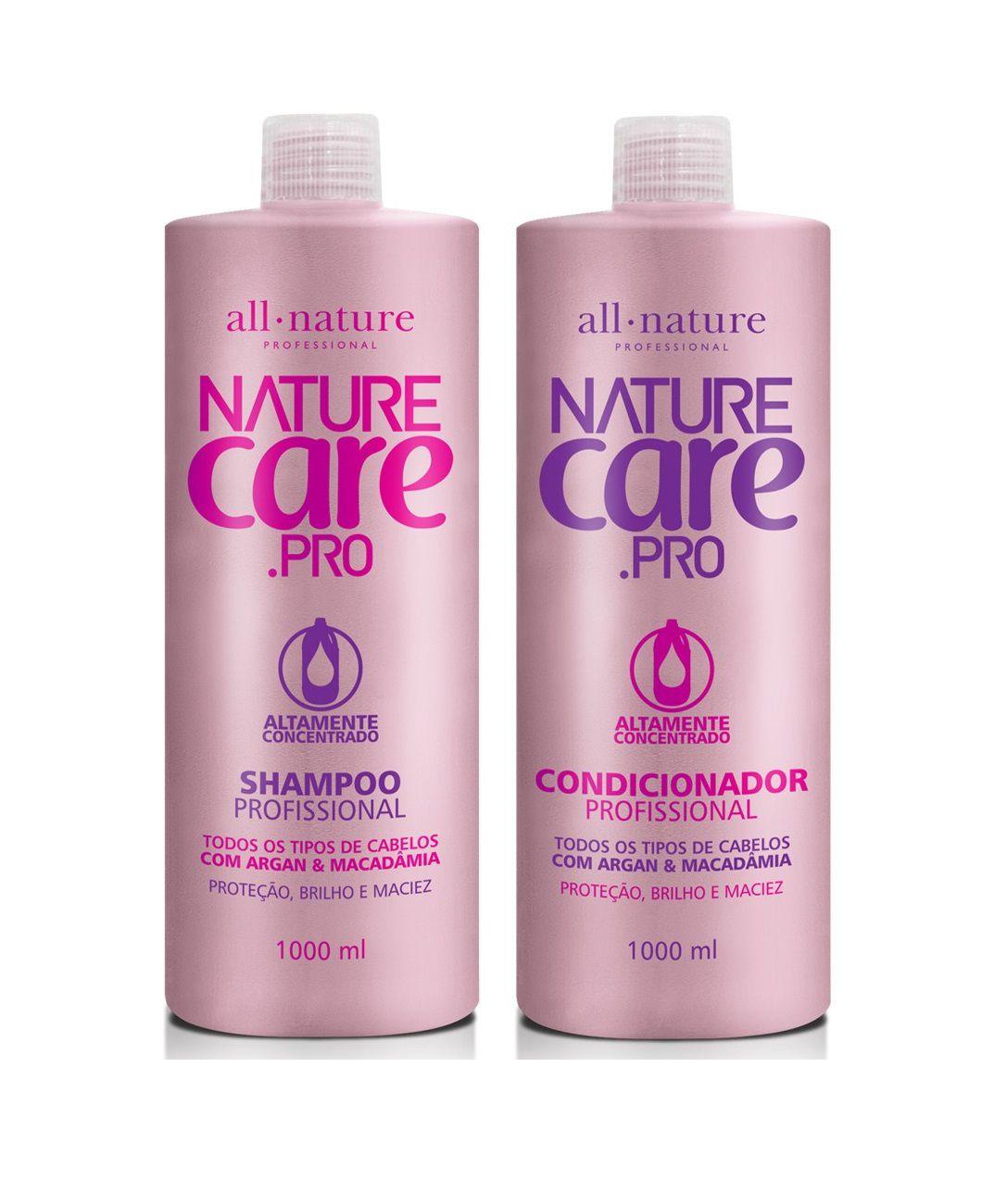 Shampoo e Condicionador Com Argan e Macadâmia Nature Care 1000ml  All Nature