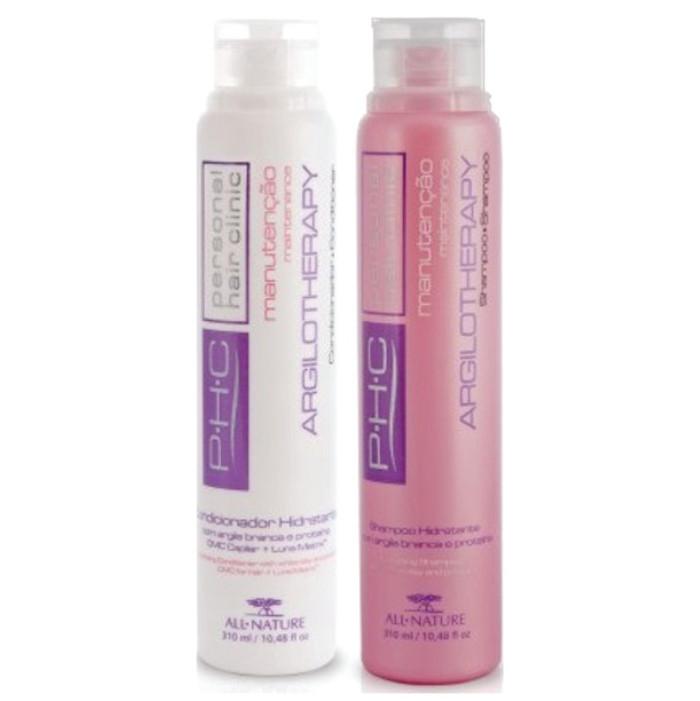 Shampoo e Condicionador Hidratante Argilotherapy 310ml Argila Branca e Proteínas