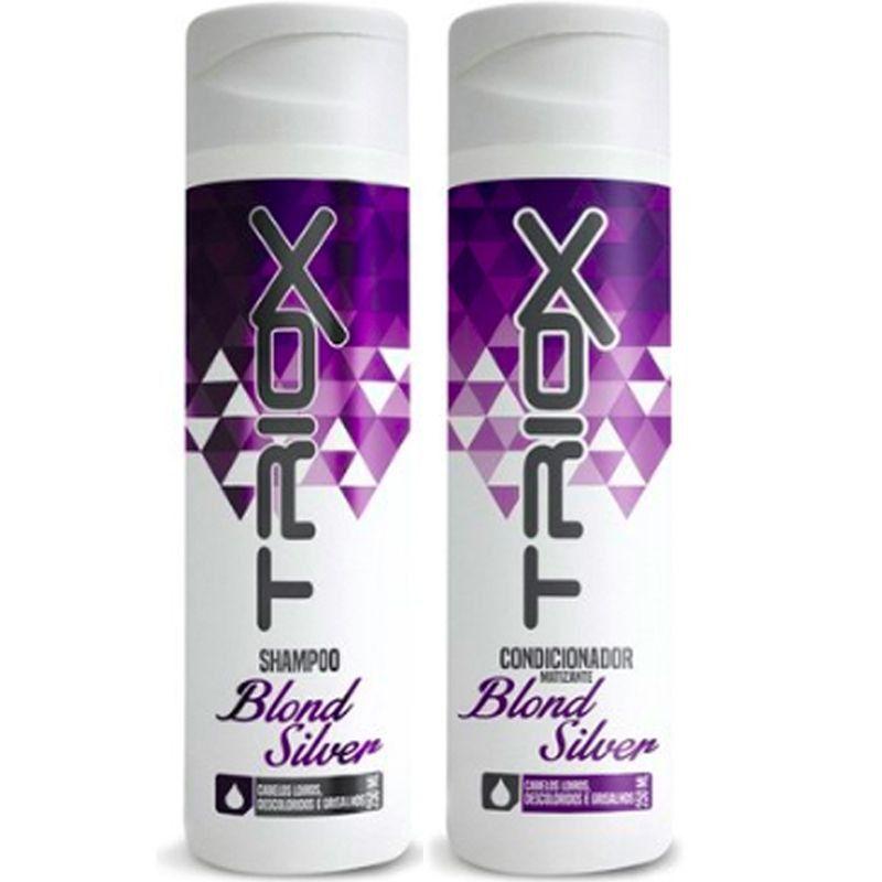 Shampoo e Condicionador Matizante Triox  Indicado para matização de cabelos loiros descoloridos e grisalhos