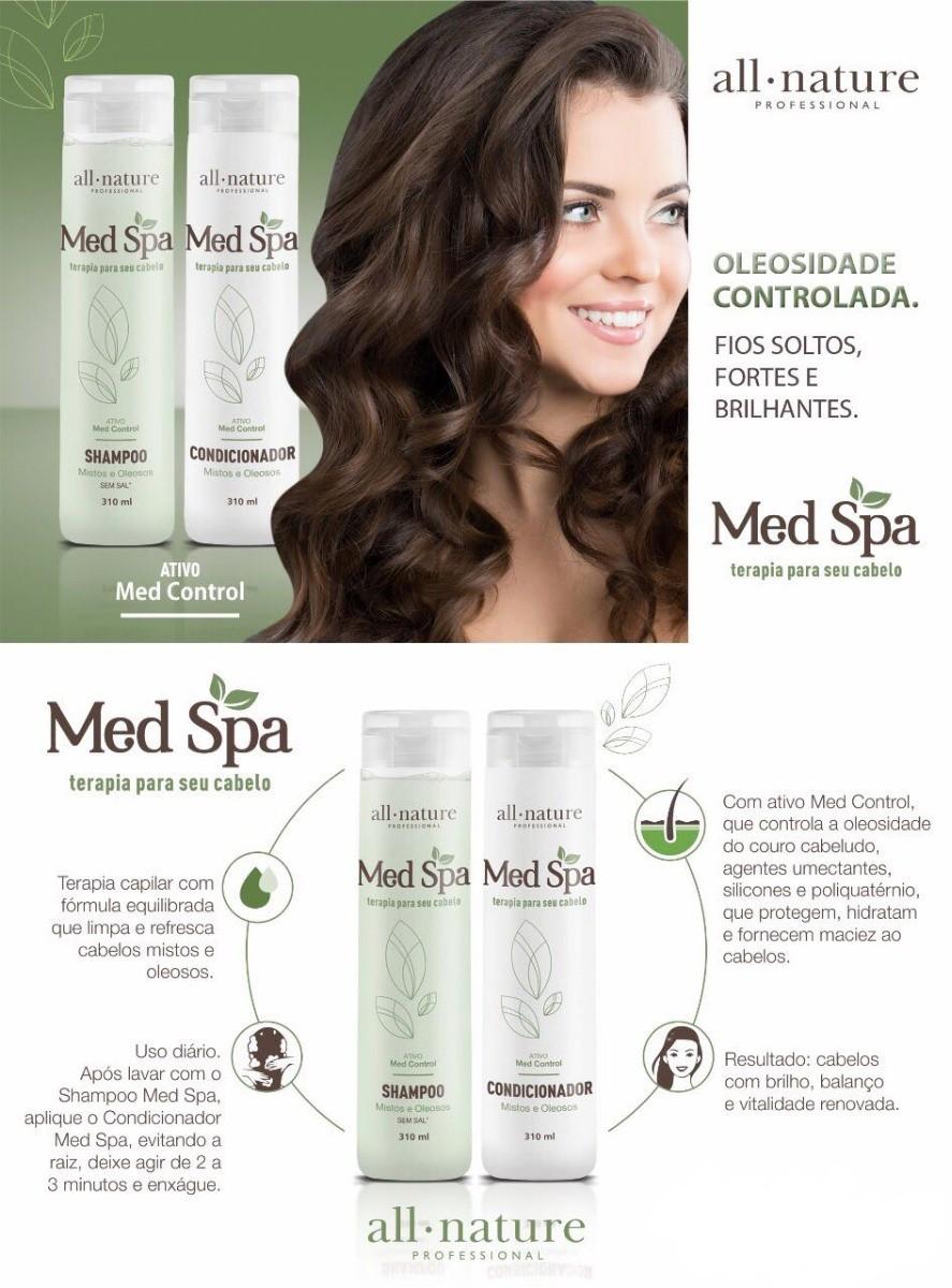 Shampoo e Condicionador Med Spa All Nature  Para Cabelos Mistos e Oleosos