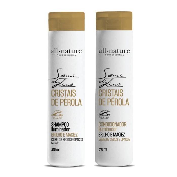 Shampoo e Condicionador Semi Di Lino Cristais de Perola 310ml