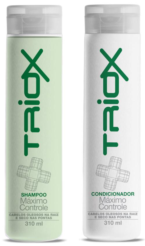 Shampoo e Condicionador Triox 310ml  Máximo Controle  Indicado para cabelos oleosos na raiz e secos nas pontas