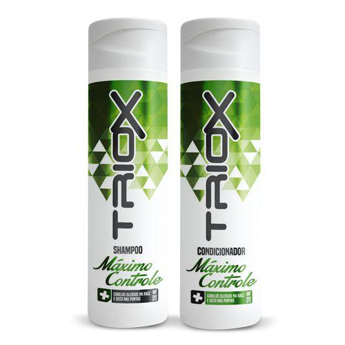 Shampoo e Condicionador Máximo Controle 250ml Triox - Indicado para cabelos oleosos na raiz e secos nas pontas
