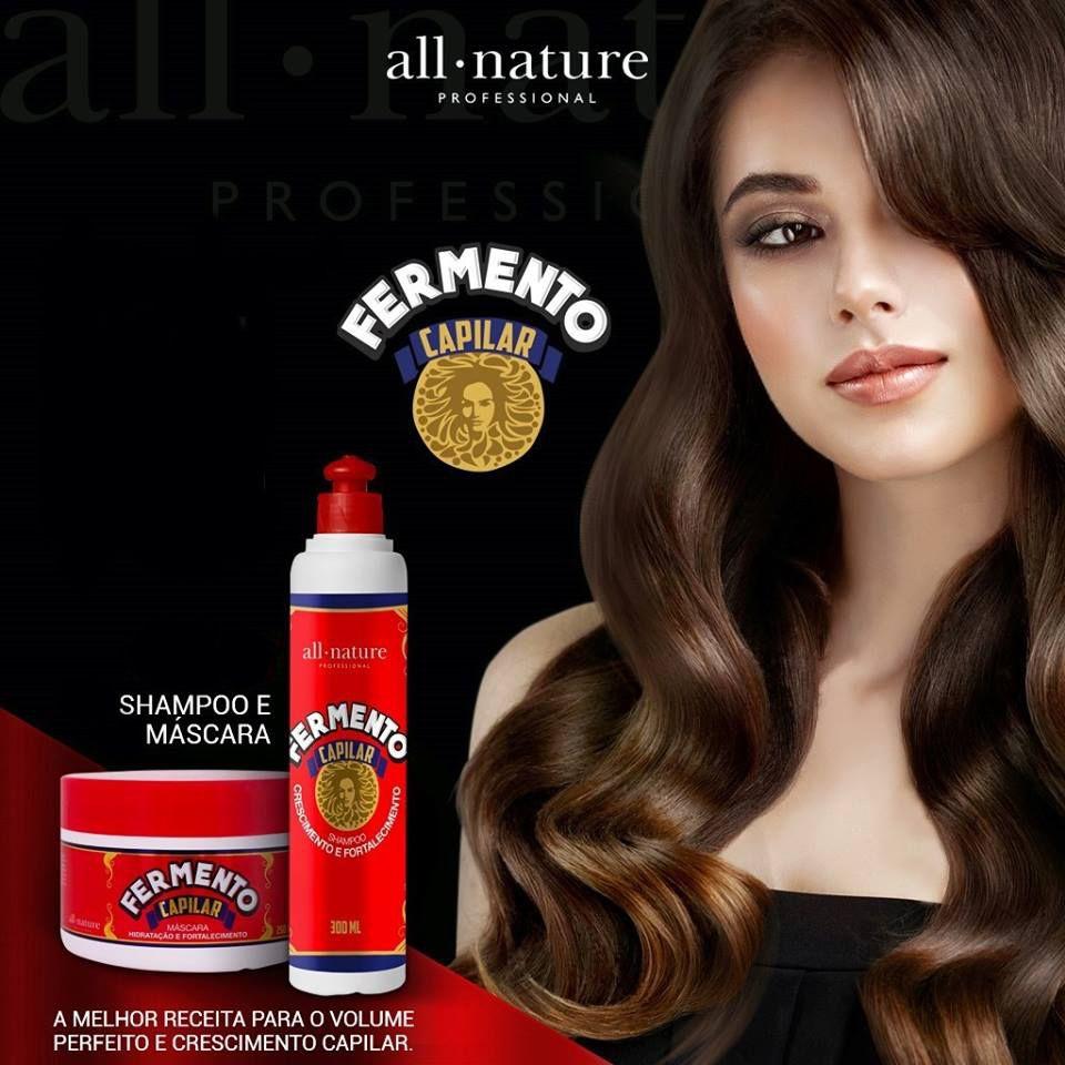 Shampoo fermento Capilar 300 ml E Mascara Fermento Capilar 250gr All Nature