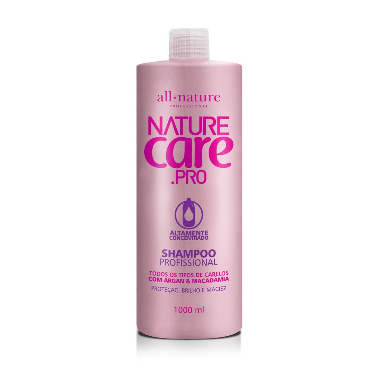 Shampoo Nature Care e Condicionador Com Óleo de Argan e Macadâmia 1000ml  All Nature