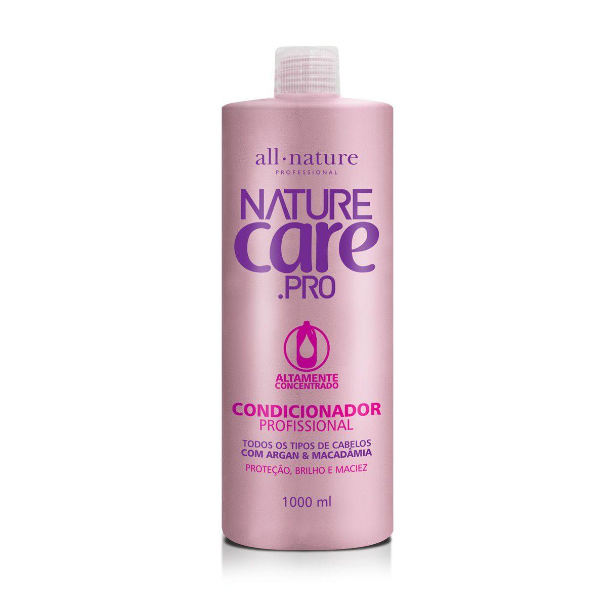 Shampoo Nature Care e Condicionador Com Argan e Macadâmia 1000ml  All Nature