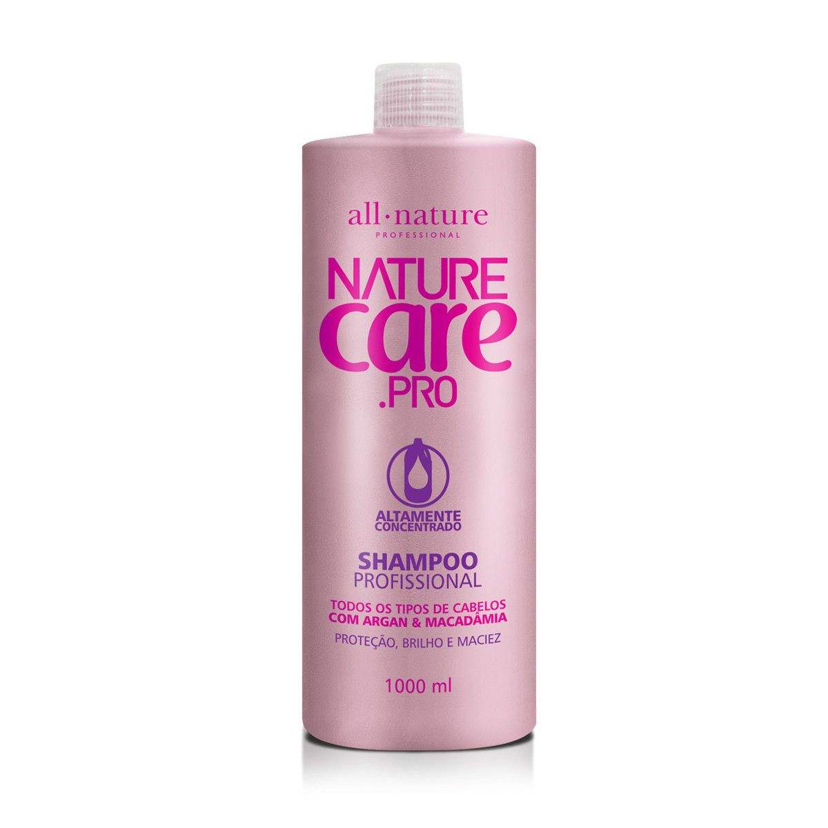 Shampoo Nature Care Pro Com Argan e Madadâmia Fórmula Balanceada 1000ml  All Naturel