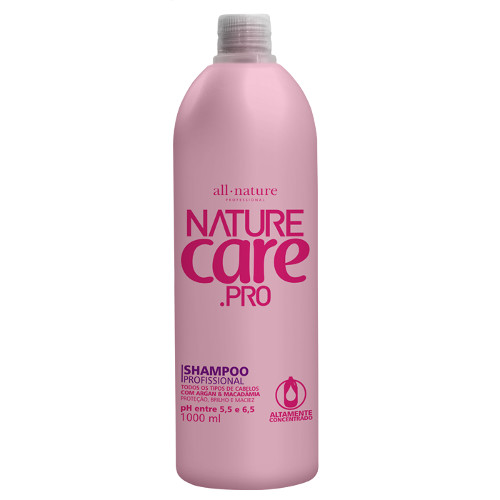 Shampoo Nature Care Pro Fórmula Balanceada   All Nature 1000ml
