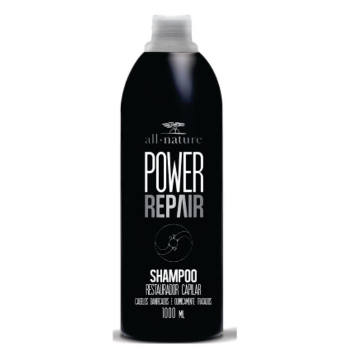Shampoo Power Repair 1000ml  Indicado Cabelos Danificados e Quimicamente Tratados