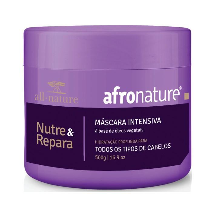 Shampoo Semi Di Lino Iluminador Cristais de Perola, Para Cabelos Secos e Ressecados 310ml + Máscara Intensiva Afro Nature 500g - All Nature