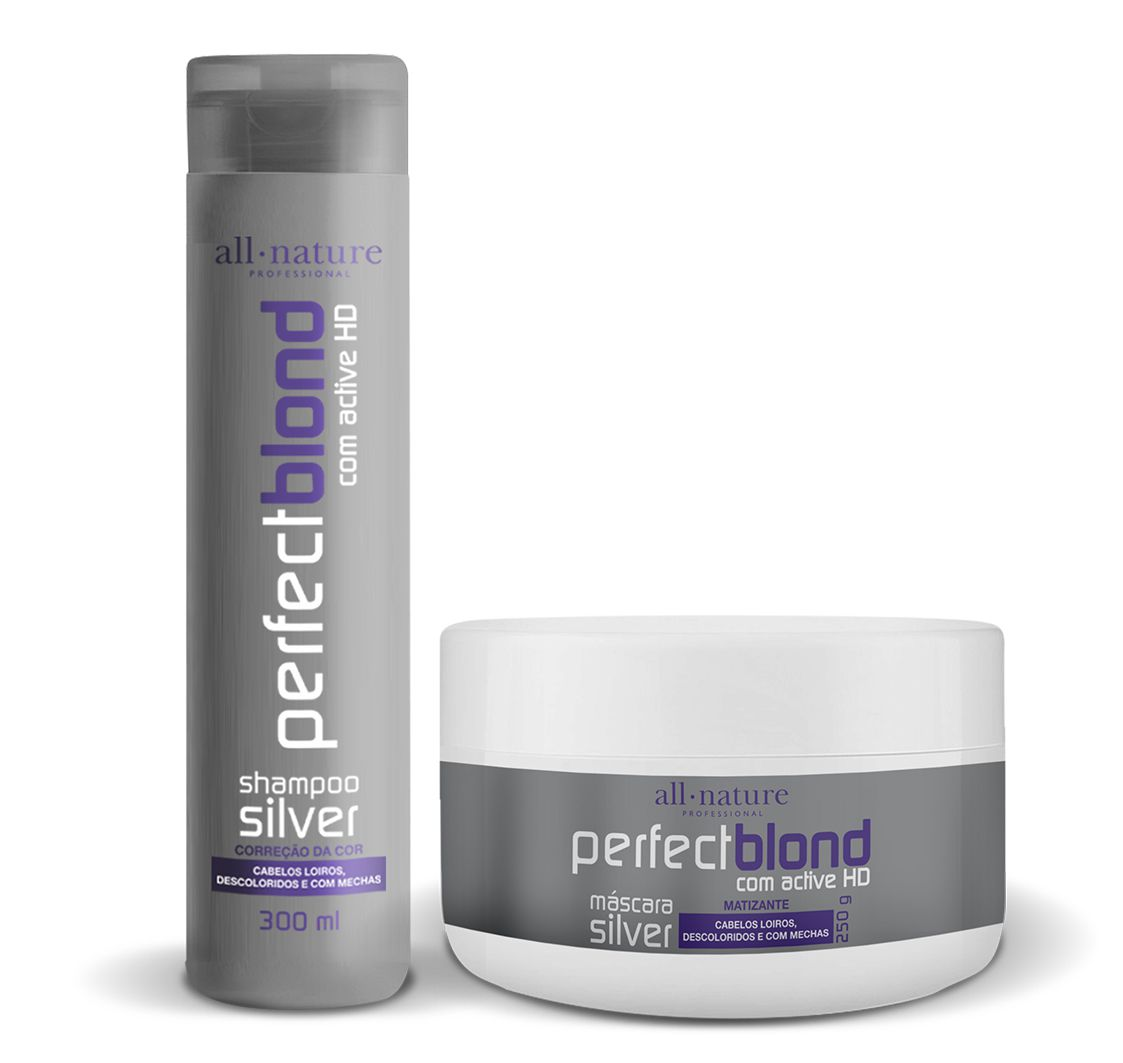 Shampoo Silver Matizante Nature Color 300ml e  Máscara Silver Matizante 250g - All Nature