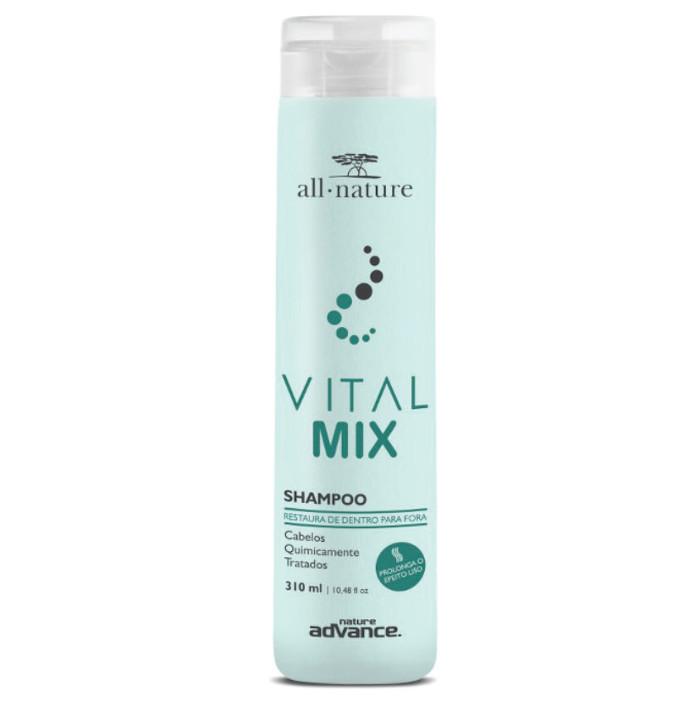 Shampoo Vital Mix All Nature  Indicado Para Cabelos Quimicamente Tratados