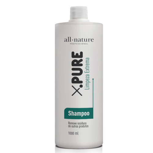 Shampoo X Pure Limpeza Extrema AntiResíduo Nature Advance 1000ml All Nature