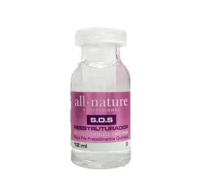 Sos Aminoácido Cistina Para Cabelos Elásticos. 2 Caixas