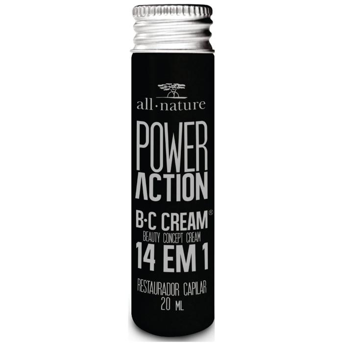 SOS Capilar Power Action  All Nature  Com B C CREAM Beauty Concept Cream Poderoso Restaurador Capilar 14 Benefícios Com Um Único Produto