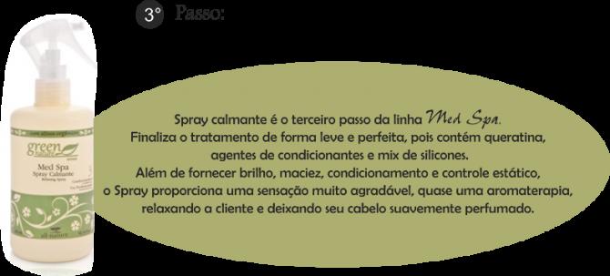 Spray Calmante Med Spa, Leave-In (Sem Enxague) Tratamento Com Cistina e Queratina (Cabelos Quebradiços, Emborrachados) Pré Escova e Prancha 350ml - All Nature