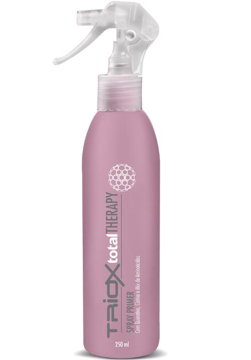 Tratamento Leave-In Spray Primer, Cabelos Elásticos, Quebradiços, Emborrachados, Com Cistina e Queratina, Pré Escova, Prancha ou Natural