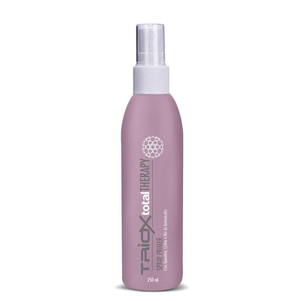 Spray Primer, Leave-In Tratamento, Cabelos Elásticos, Quebradiços, Emborrachados, Com Cistina e Queratina, Pré Escova, Prancha ou Natural, Triox - All nature