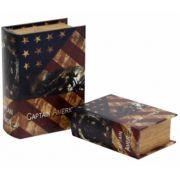 Caixa Livro Captain America