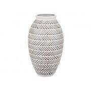 Vaso Cerâmica Branco e Preto (A)
