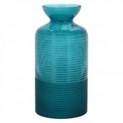 Vaso Lines em Vidro Azul (X)