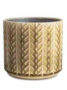 Cachepô P Bege em Cerâmica (I)