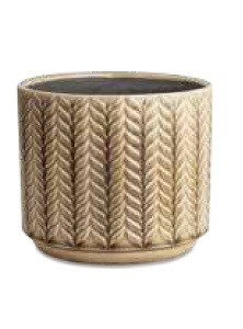 Cachepô P Cerâmica Bege (X)
