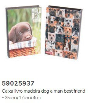 Caixa Livro Dog a Man's Best Friend