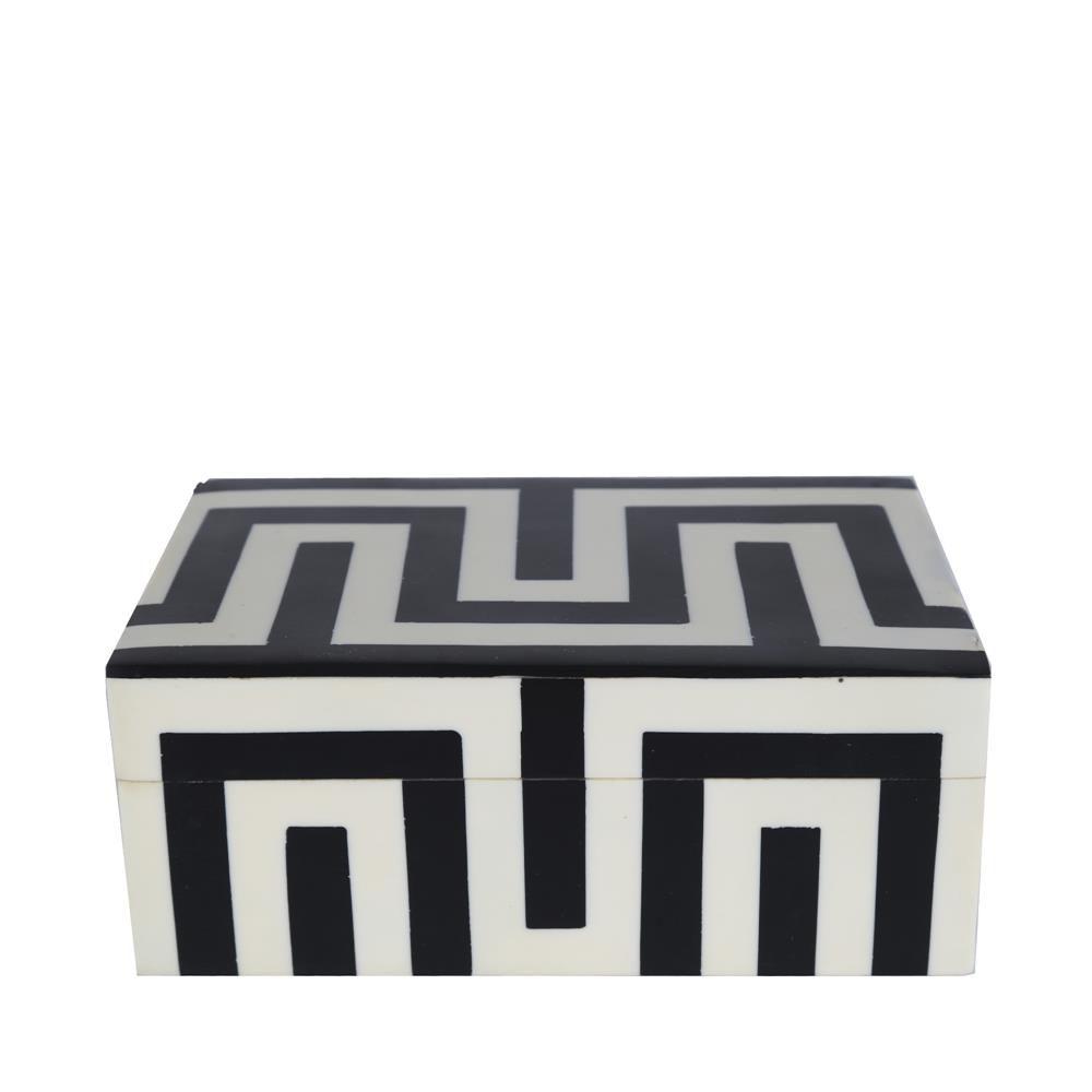 Caixa Maze P Preta e Branca