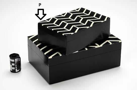Caixa Tijolinho Preto e Branco P (I)