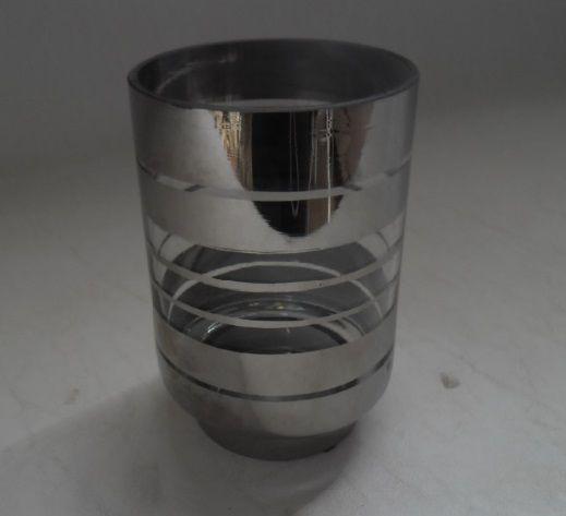 Castiçal Vidro Prata M