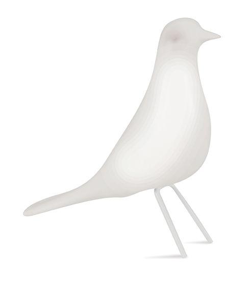 Escultura Pássaro Decorativo Branco G