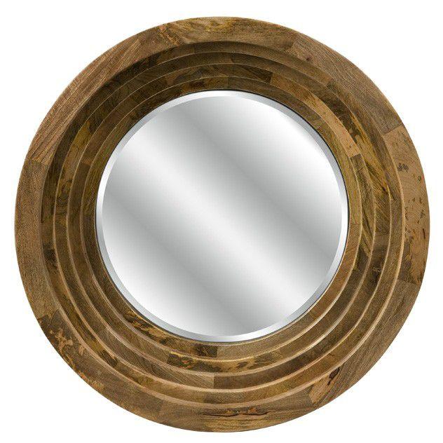 Espelho Bisotado com Moldura de Madeira (A)