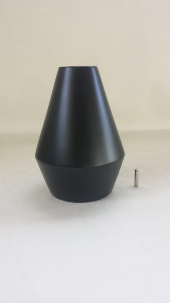 Garrafa 4 Geométrica Preto Fosco