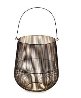 Lanterna G Metal Preto/Dourado (A)