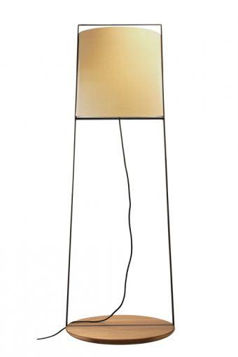 Luminária de Piso Kimura Cúpula Off White (C)