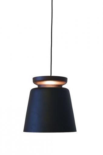 Luminária de Teto Hangar Alumínio Preto (A)