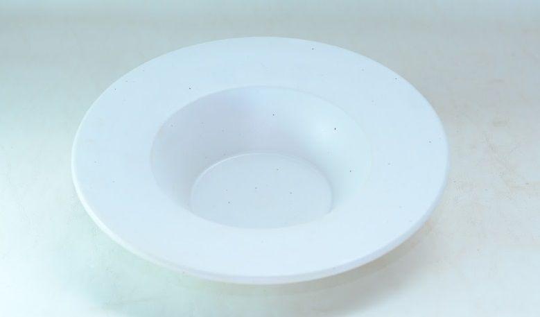 Prato de Sopa Cerâmica Off White