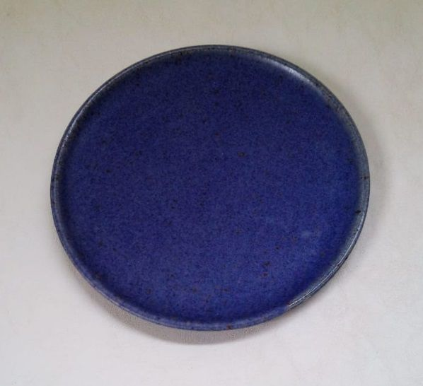 Prato para Sobremesa Cerâmica Azul