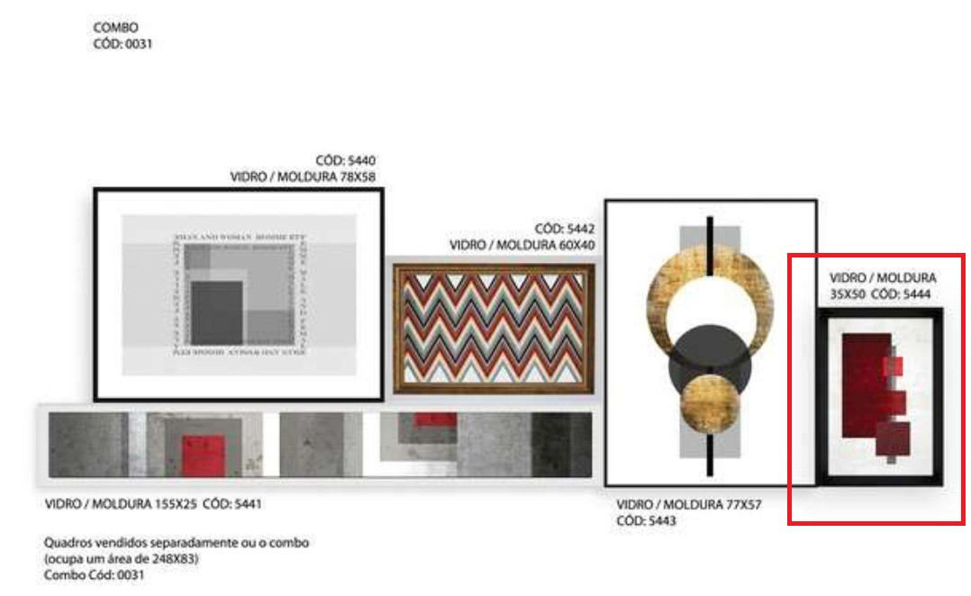 Quadro 5444 33x50cm (X)
