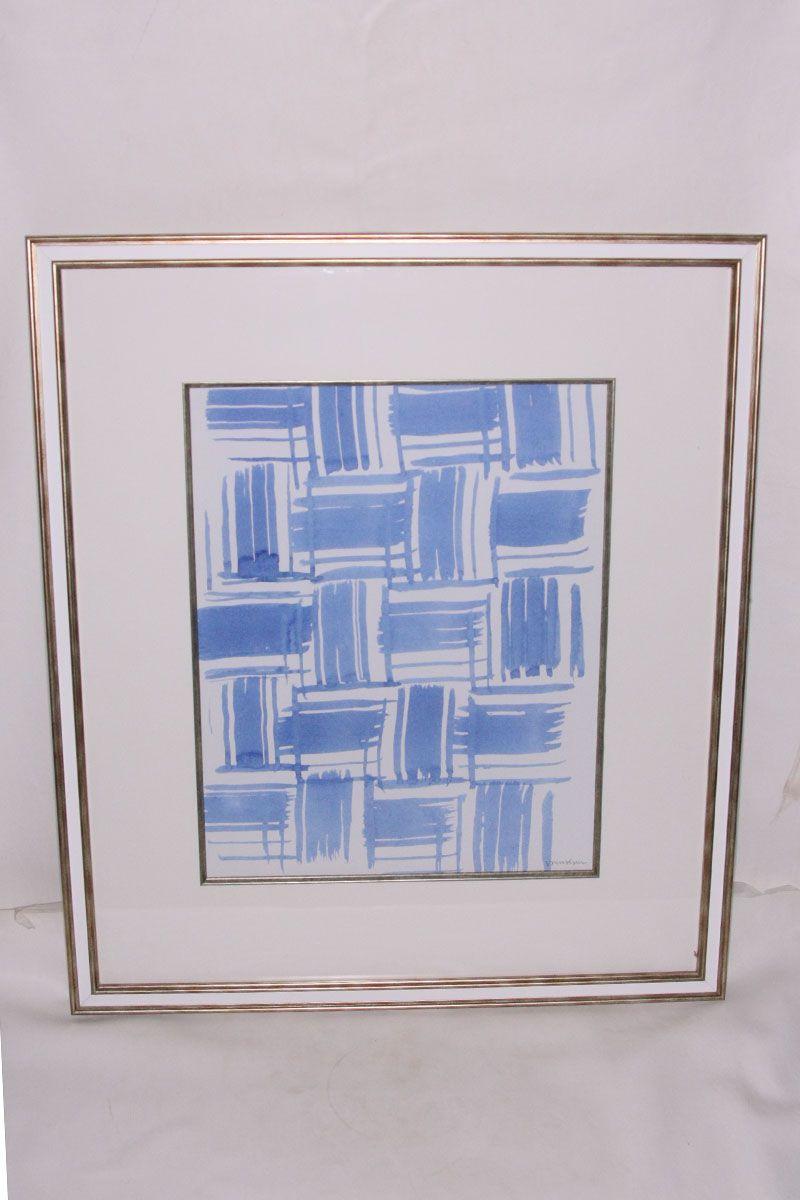 Quadro Macramê Azul F (X)